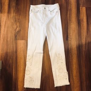 FREE PEOPLE STRAIGHT CROP JEANS - SIZE: 26